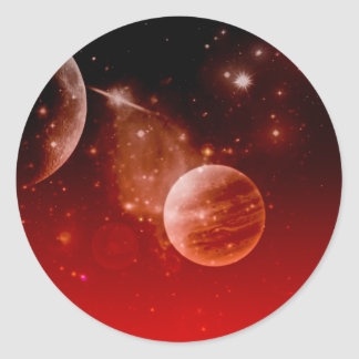 cosmos, classic round sticker