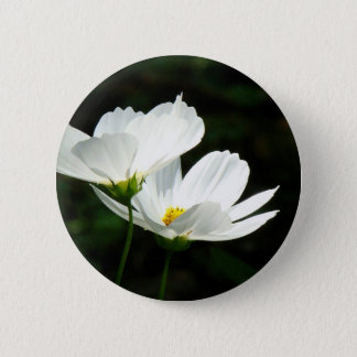 Cosmos Daisy Flowers 2 Inch Round Button
