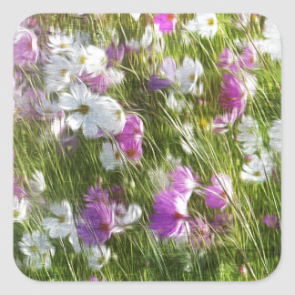 Cosmos Dancing in the Wind Gifts Square Sticker