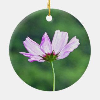 Cosmos Round Ceramic Ornament