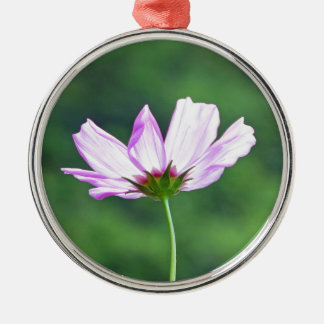 Cosmos Silver-Colored Round Ornament