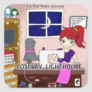 Cosplay Lighthouse, Stickers, 3 inch (sheet of 6) Square Sticker
