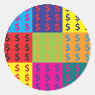 Cost Estimating Pop Art Classic Round Sticker