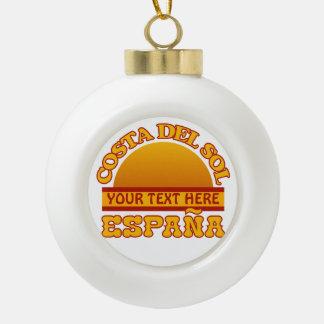 Costa Del Sol custom Christmas ornament