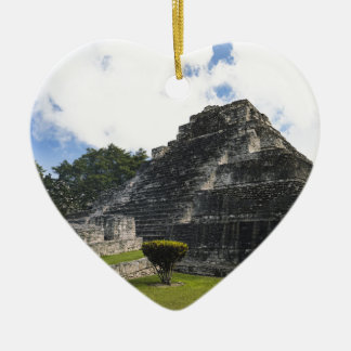 Costa Maya Chacchoben Mayan Ruins Ceramic Heart Ornament