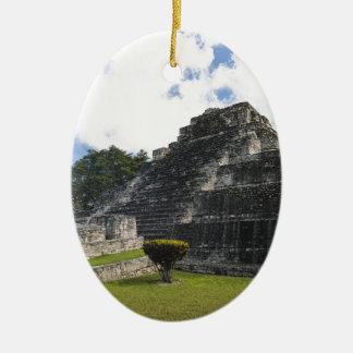 Costa Maya Chacchoben Mayan Ruins Ceramic Oval Ornament