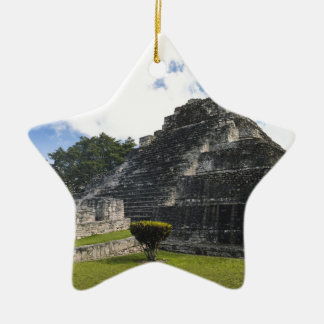 Costa Maya Chacchoben Mayan Ruins Ceramic Star Ornament