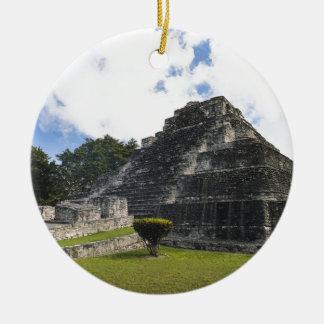 Costa Maya Chacchoben Mayan Ruins Round Ceramic Ornament