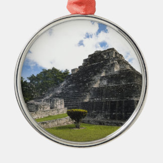 Costa Maya Chacchoben Mayan Ruins Silver-Colored Round Ornament