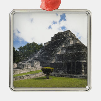 Costa Maya Chacchoben Mayan Ruins Silver-Colored Square Ornament