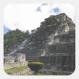 Costa Maya Chacchoben Mayan Ruins Square Sticker