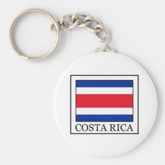 Costa Rica Basic Round Button Keychain