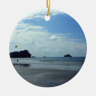 Costa Rica beach Ceramic Ornament