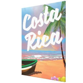 Costa Rica Beach travel poster Canvas Print