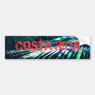 Costa Rica- Blue Palm Bumper Sticker