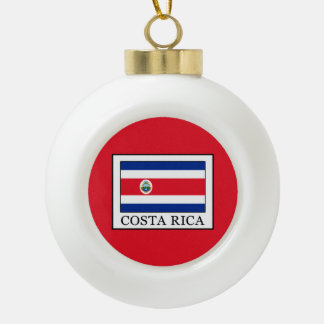 Costa Rica Ceramic Ball Christmas Ornament
