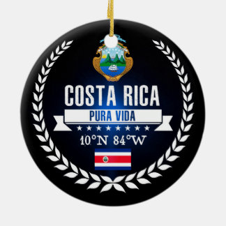Costa Rica Ceramic Ornament