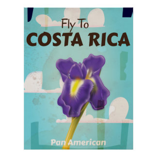 Costa Rica Classic vintage travel poster