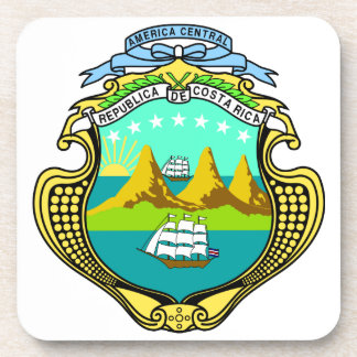 Costa Rica Coat Of Arms Drink Coaster