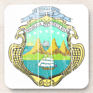Costa Rica Coat Of Arms Drink Coasters