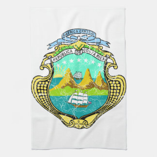 Costa Rica Coat Of Arms Kitchen Towel