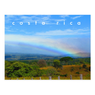 Costa Rica Countryside Rainbow Postcard