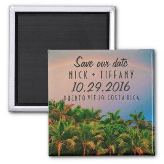 Costa Rica Destination Wedding Save the Date Square Magnet