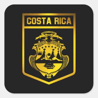 Costa Rica Emblem Square Sticker
