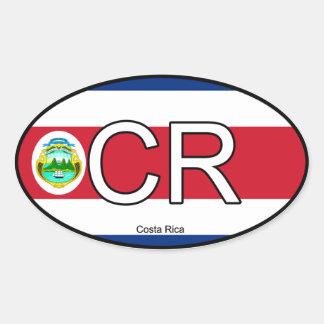 Costa Rica Euro Sticker