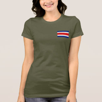Costa Rica Flag and Map dk T-Shirt