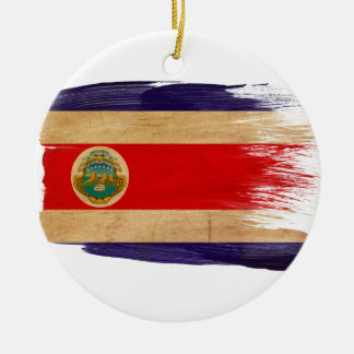 Costa Rica Flag Ceramic Ornament