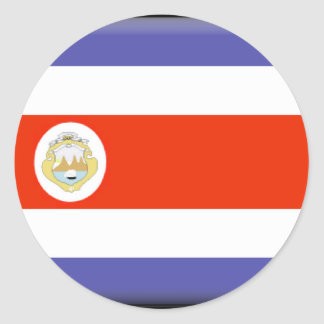 Costa Rica Flag Classic Round Sticker