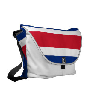 Costa Rica Flag Courier Bags