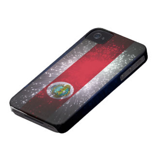 Costa Rica Flag Firework iPhone 4 Cases