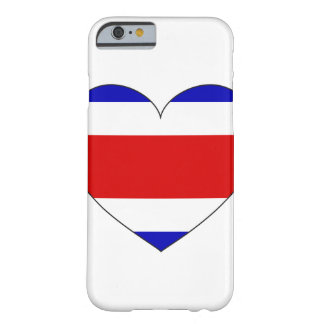 Costa Rica Flag Heart Barely There iPhone 6 Case