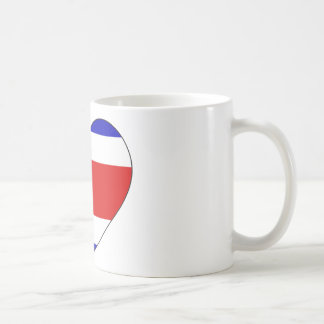 Costa Rica Flag Heart Coffee Mug
