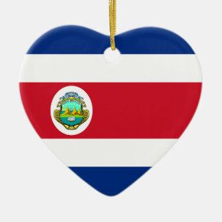 Costa Rica Flag Heart Ornament