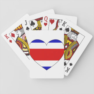Costa Rica Flag Heart Playing Cards