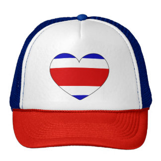 Costa Rica Flag Heart Trucker Hat