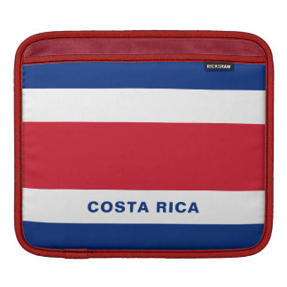 Costa Rica Flag iPad Sleeves
