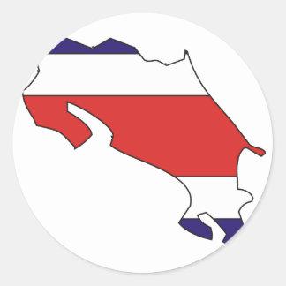 Costa Rica flag map Classic Round Sticker