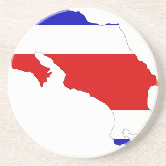 Costa Rica Flag Map Drink Coasters