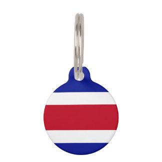 Costa Rica Flag Pet ID Tag