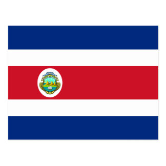 Costa Rica Flag Postcard