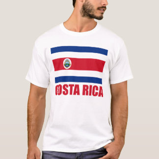 Costa Rica Flag Red Text Light T-Shirt
