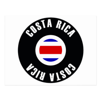 Costa Rica Flag Simple Postcard