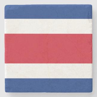 Costa Rica Flag Stone Coaster