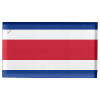 Costa Rica Flag Table Number Holder