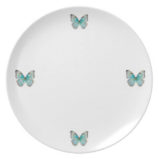 Costa Rica Four Butterfly Melamine Platea Plate