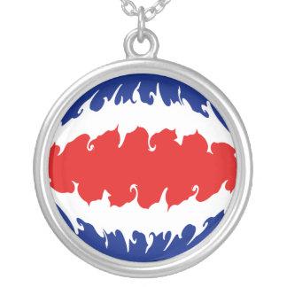 Costa Rica Gnarly Flag Custom Necklace